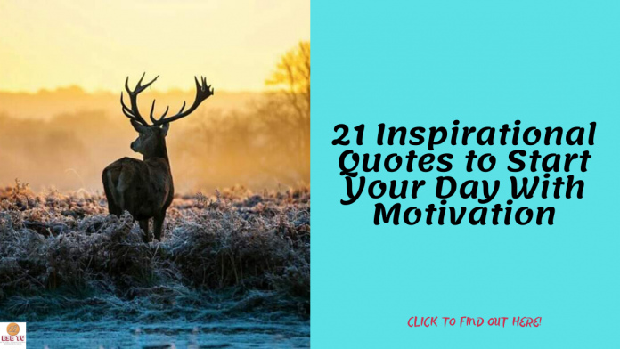 21 Inspirational Quotes to Start Your Day With Motivation