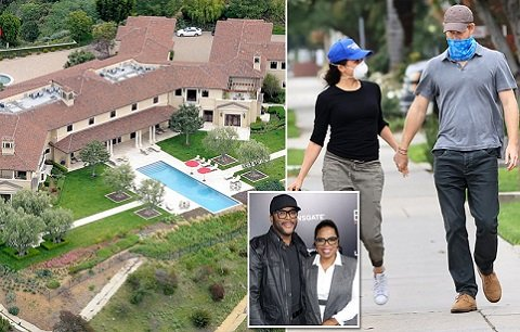 of Tyler Perry's luxury Beverly Hills home where Prince Harry and Meghan Markle are staying
