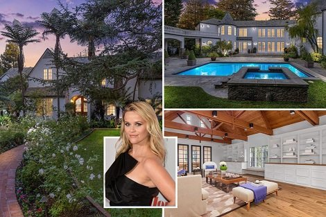 Interior Design Of Reese Witherspoon's Mansion Where She splashes $11.9million on her home