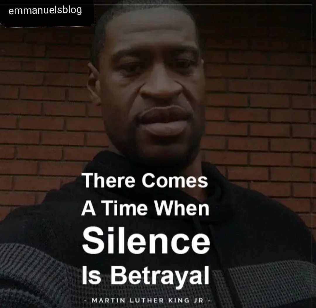There Comes A Time When Silence Is Betrayal 2020