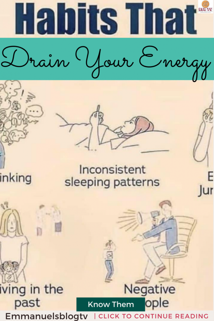 5 Habits That Drain Your Energy